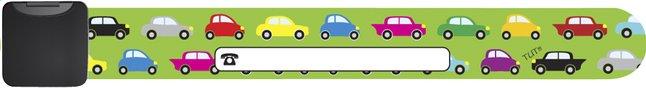 Image pour Bracelet d'identification vert avec petites voitures rétro à partir de Dreambaby