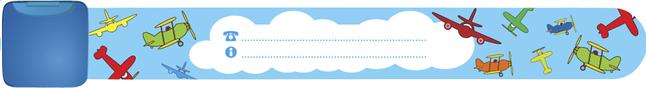 Image pour Bracelet d'identification bleu avec petits avions à partir de Dreambaby