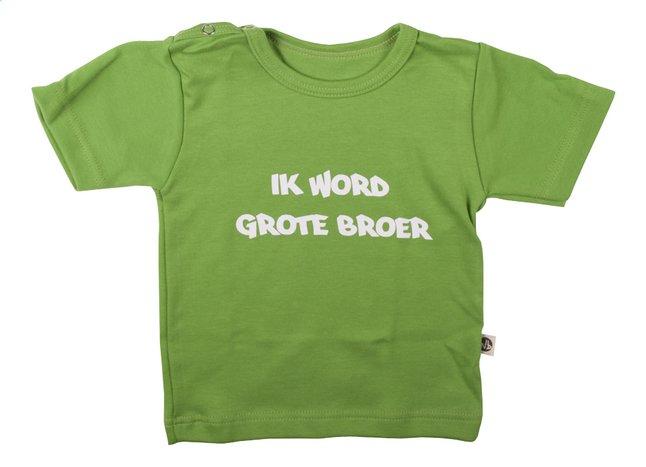 Image pour Wooden Buttons T-shirt à manches courtes Ik word grote broer lime taille 86/92 à partir de Dreambaby