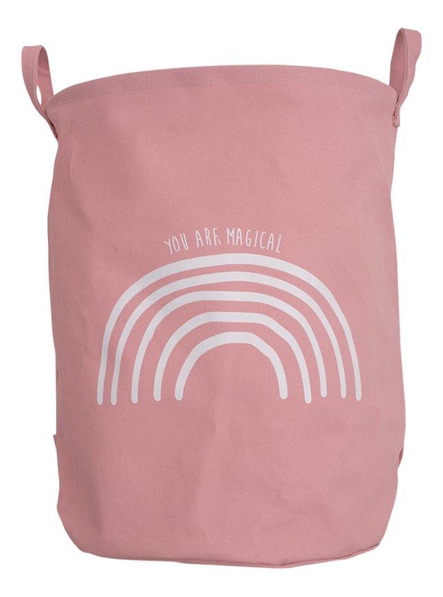 Jollein Panier de rangement Arc-en-ciel rose