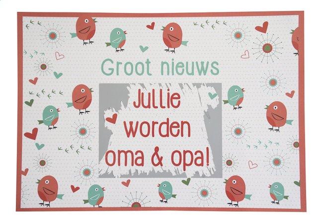 minimou carte à gratter birdy jullie worden oma en opa! | dreambaby