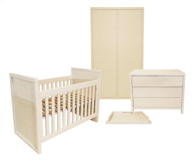 Image pour Quax Chambre évolutive 3 pièces avec armoire 2 portes Stripes blanc à partir de Dreambaby
