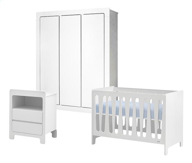Image pour Quax Chambre de bébé 3 pièces avec armoire 3 portes Sunny blanc à partir de Dreambaby