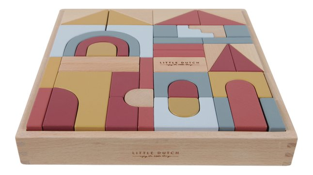 Little Dutch blocs de construction Pure & Nature - 47 pièces