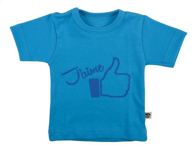 Image pour Wooden Buttons T-shirt à manches courtes J'aime aqua taille 62/68 à partir de Dreambaby