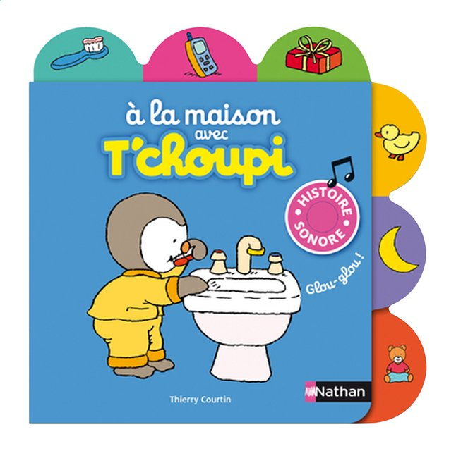 Afbeelding van Babyboek À la maison avec T'choupi - Thierry Courtin from Dreambaby