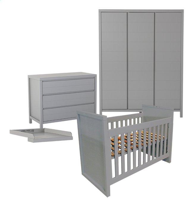 Image pour Quax Chambre évolutive 3 pièces avec armoire 3 portes Stripes griffin grey à partir de Dreambaby