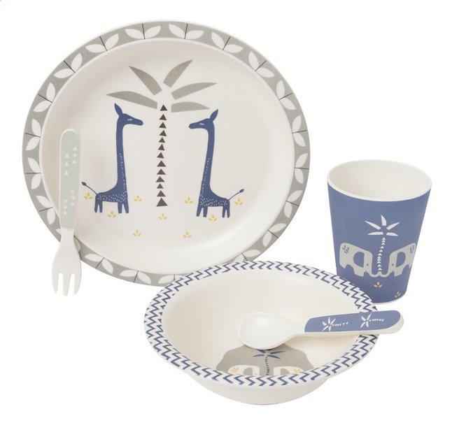 Image pour Fresk Set repas 4 pièces Giraf indigo blue à partir de Dreambaby