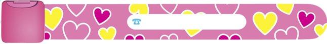 Image pour Bracelet d'identification rose avec petits coeurs à partir de Dreambaby