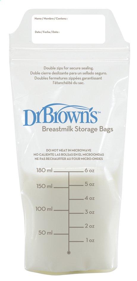 Afbeelding van Dr. Brown's Bewaarzakjes 180 ml - 25 stuks from Dreambaby