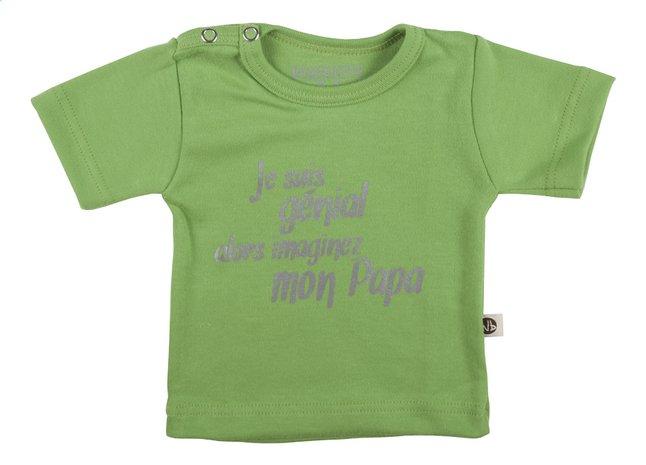 Afbeelding van Wooden Buttons T-shirt met korte mouwen Je suis génial alors imaginez mon papa from Dreambaby