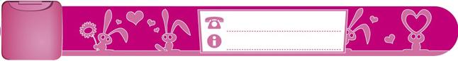 Image pour Bracelet d'identification pink bunnies à partir de Dreambaby