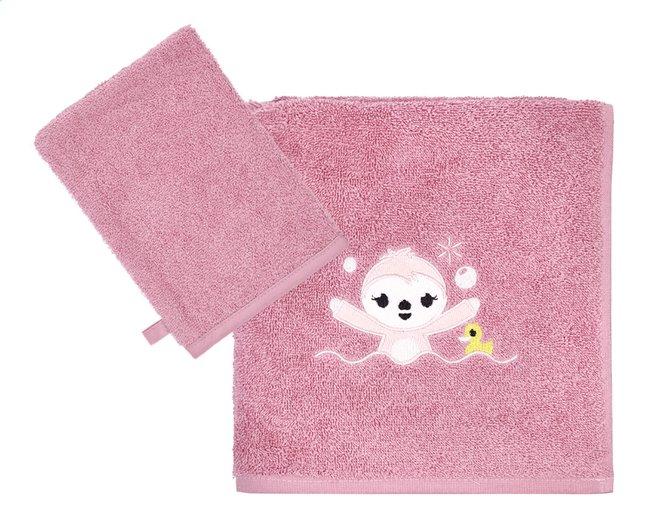 Image pour Dreambee Serviette + gant de toilette Lila & Lou Lila - 2 pièces à partir de Dreambaby