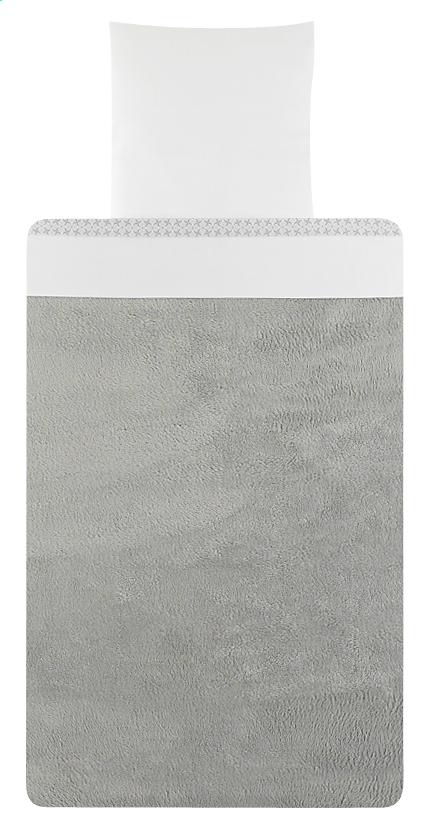 Image pour Timmy Drap pour berceau ou parc Soft Grey blanc à partir de Dreambaby
