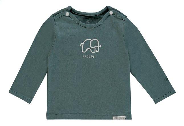 Afbeelding van Noppies T-shirt met lange mouwen Amanda dark green maat 74 from Dreambaby