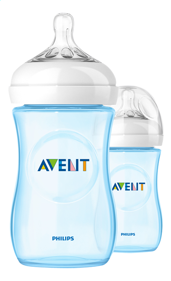 Image pour Philips AVENT Biberon Duo Natural bleu 260 ml à partir de Dreambaby