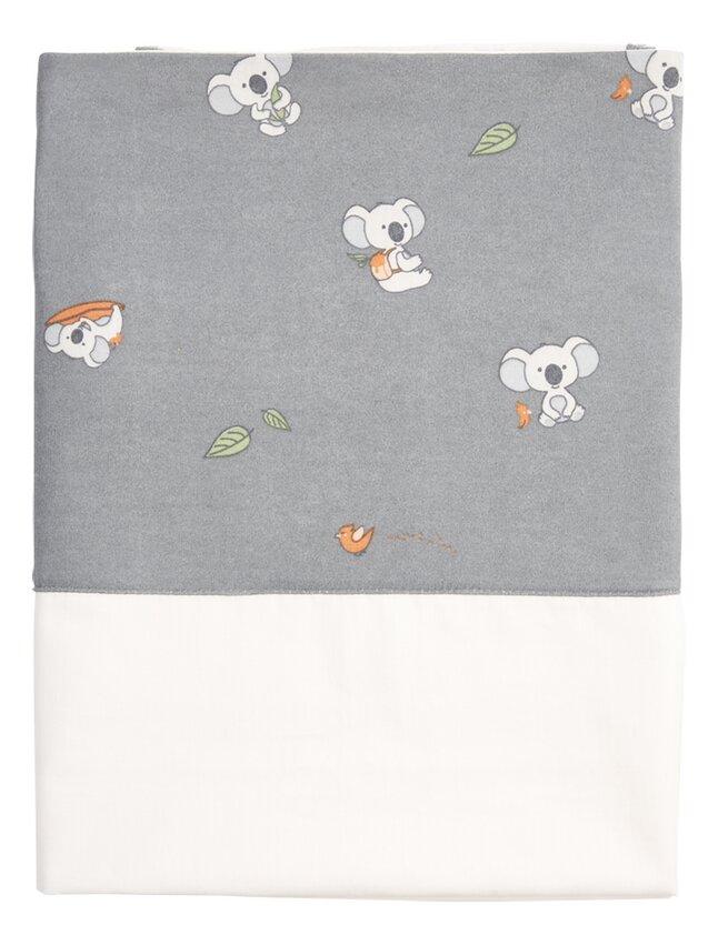 Dreambee Drap pour berceau ou parc Kai blanc/gris coton