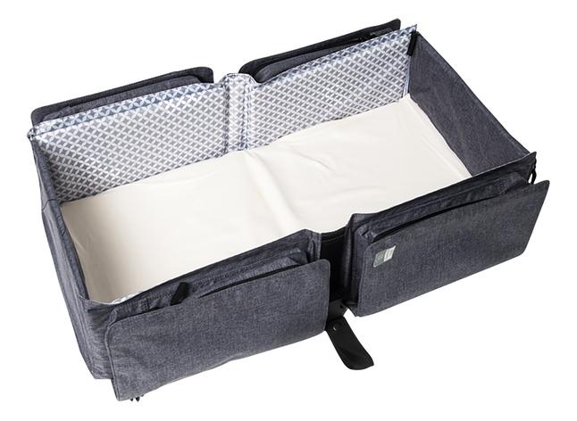 doomoo basics Sac à langer Baby Travel gris anthracite chiné