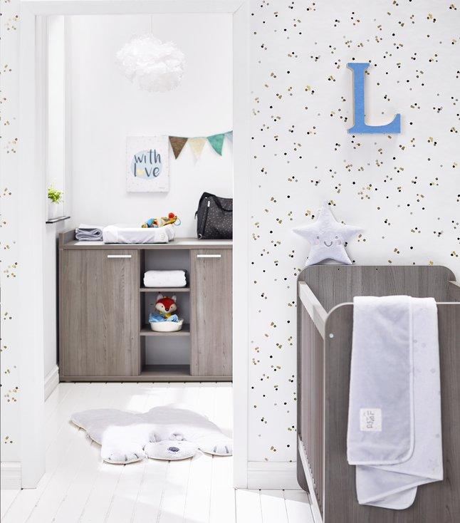 Afbeelding van 3-delige meegroeikamer met kast met 2 deuren Luca from Dreambaby