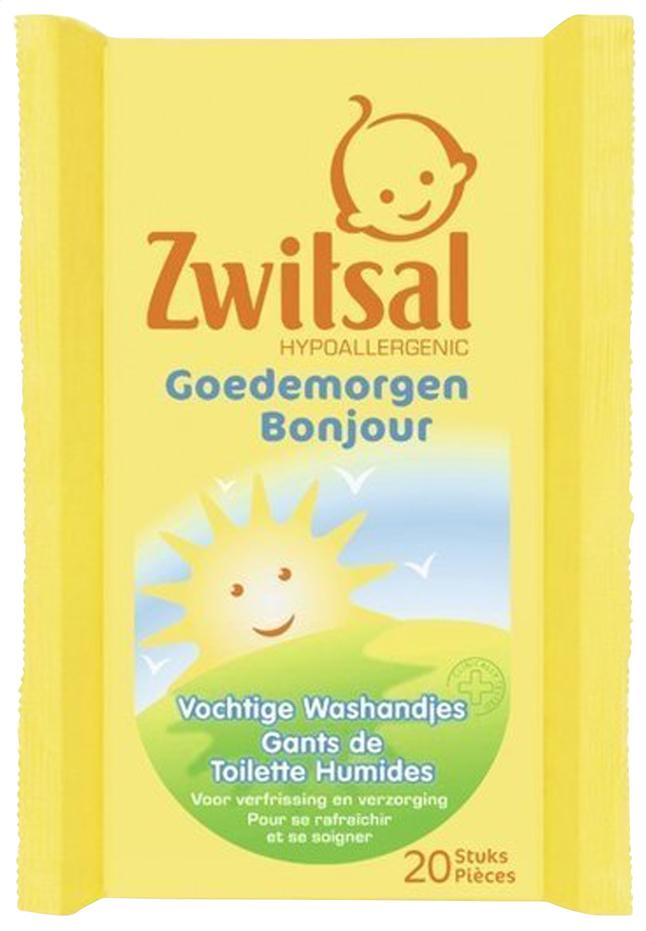 Image pour Zwitsal Gants de toilette humides Bonjour - 20 pièces à partir de Dreambaby
