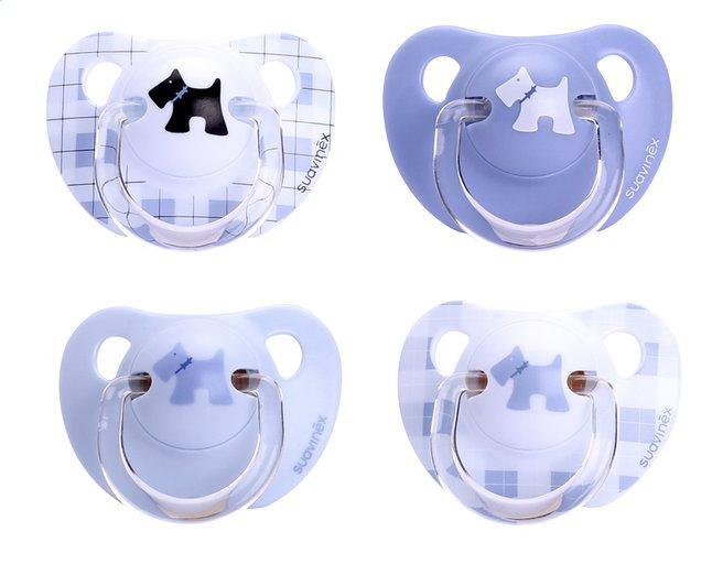 Afbeelding van Suavinex Fopspeen + 6 maanden Scottish blauw - 2 stuks from Dreambaby