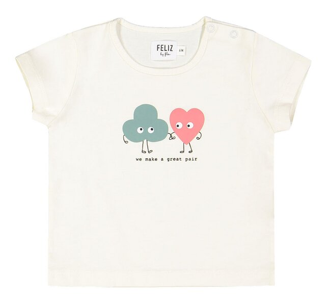 Feliz by Filou T-shirt Great Pair ecru
