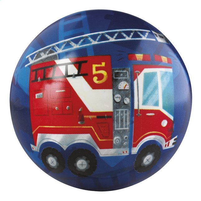 Afbeelding van Crocodile Creek Rubberen bal Fire Engine 10 cm from Dreambaby