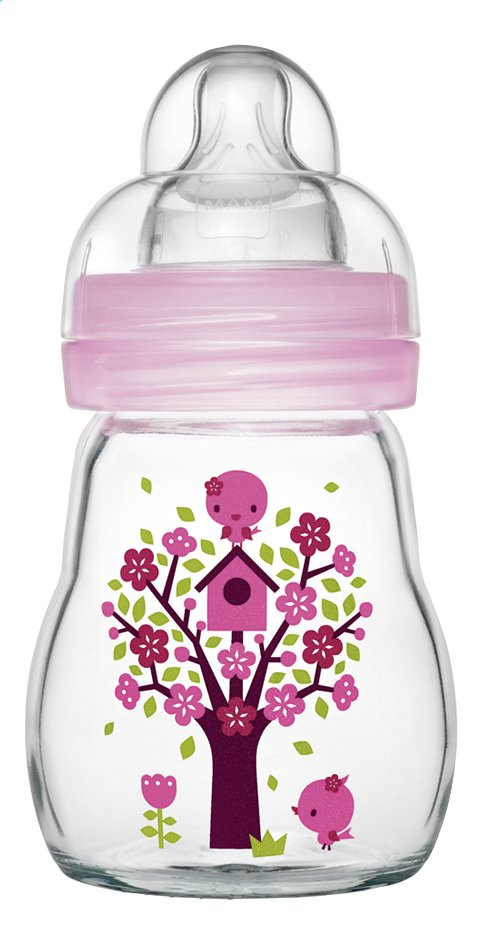 Afbeelding van MAM Glazen zuigfles Feel Good quarz rose 170 ml from Dreambaby