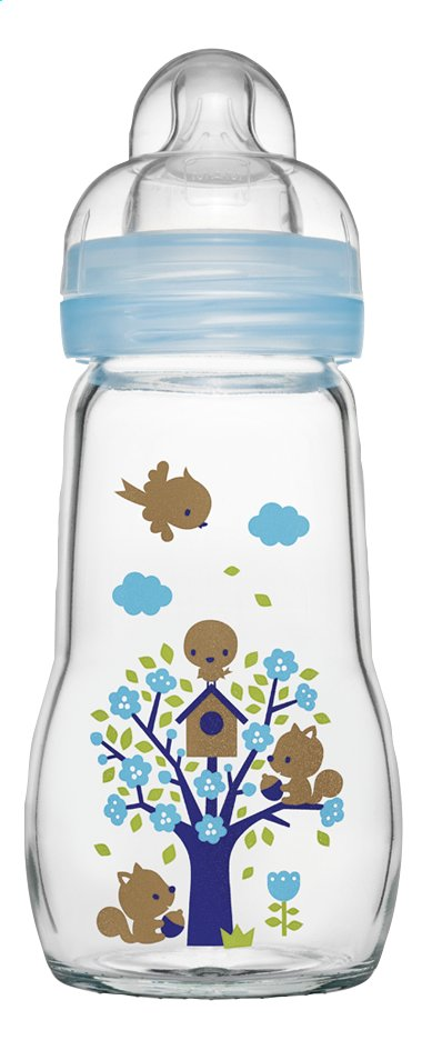 Afbeelding van MAM Glazen zuigfles Feel Good artic blue 260 ml from Dreambaby