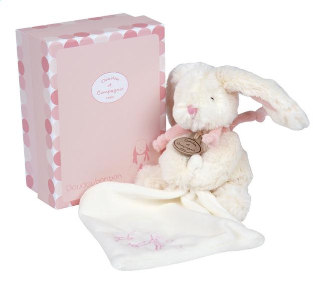 Afbeelding van Doudou et Compagnie Knuffel Lapin Bonbon met doudou 18 cm roze from Dreambaby
