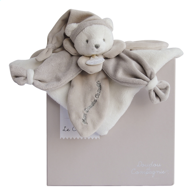 Afbeelding van Doudou et Compagnie Doudou J'aime mon doudou taupe from Dreambaby