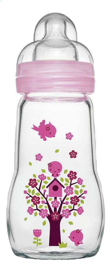 Image pour MAM Biberon en verre Feel Good quarz rose 260 ml à partir de Dreambaby