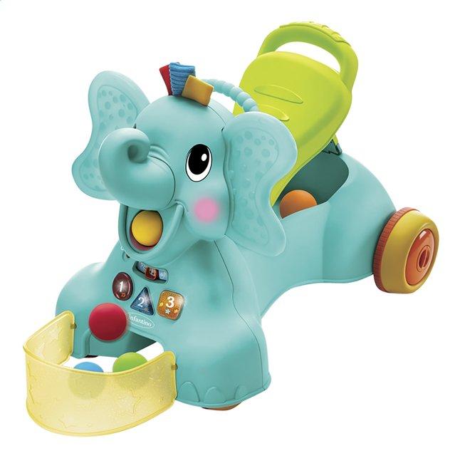 Infantino Loopwagen Sensory 3 in 1 Ride On Elephant blauw/groen