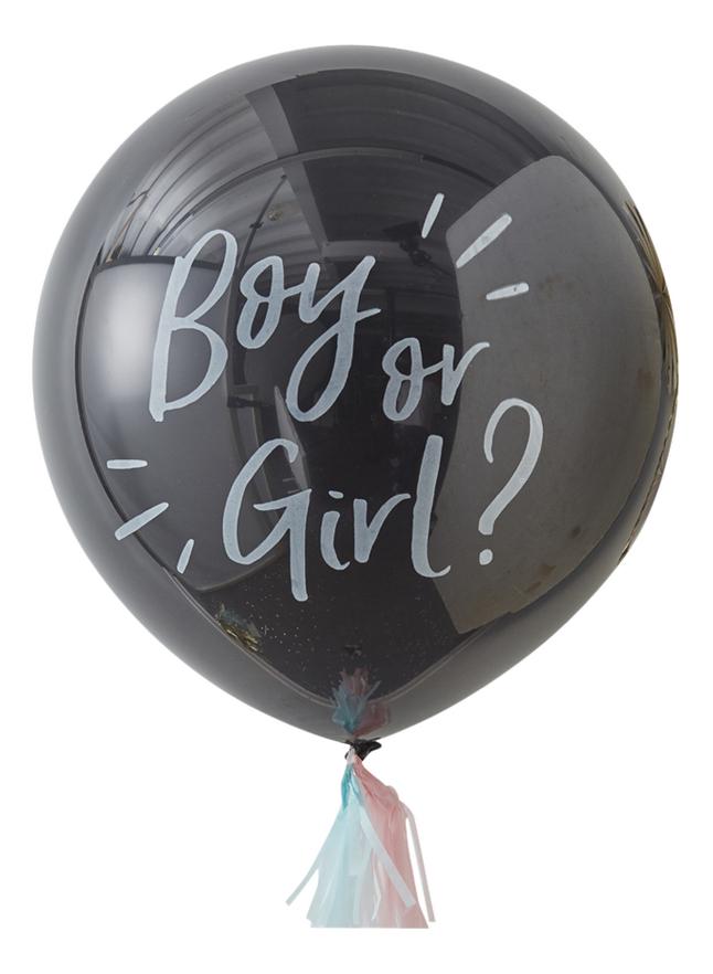 Ginger Ray Ballon à confettis Gender Reveal XL noir