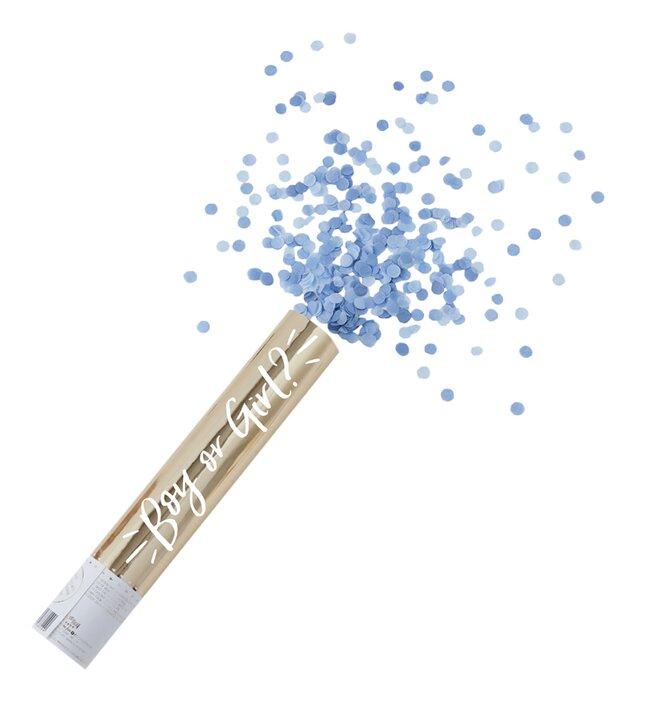 Ginger Ray Confettikanon Gender Reveal Large blauw
