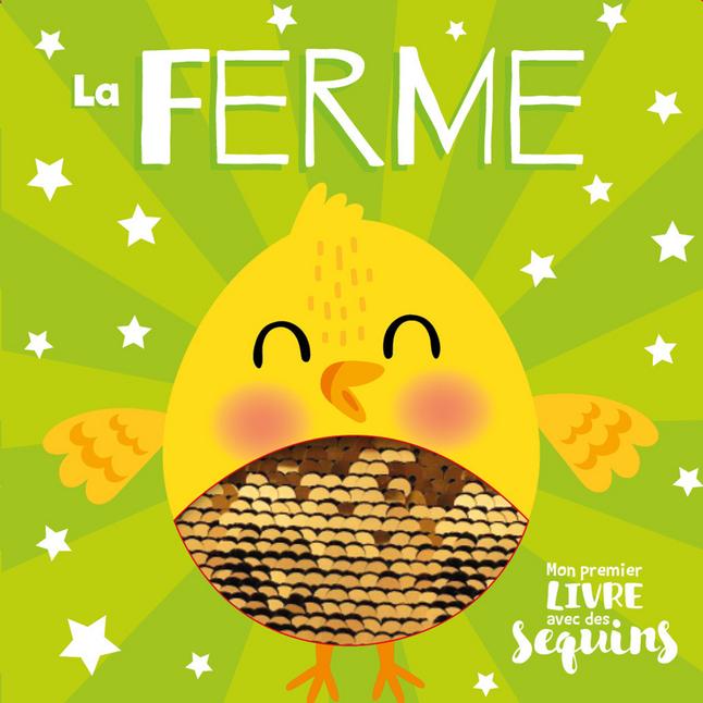 Afbeelding van Babyboek Mon 1er livre avec des sequins - La ferme from Dreambaby