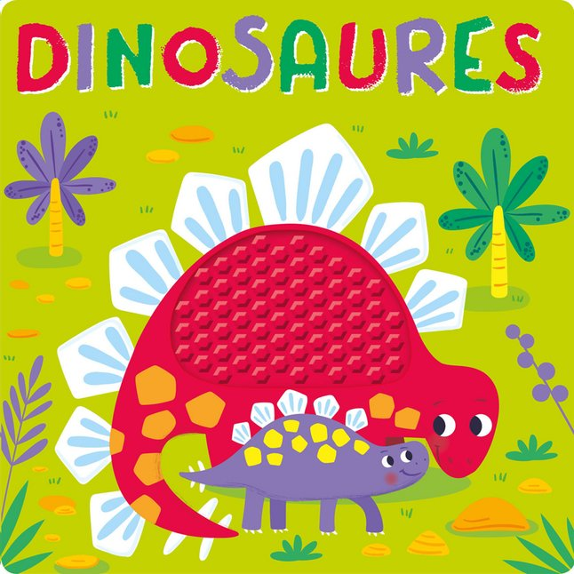Livre Pour Bebe A Toucher Silicone Dinosaures