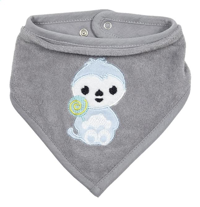Afbeelding van Dreambee Slabbetje Lila & Lou Lou met drukknoppen grijs from Dreambaby