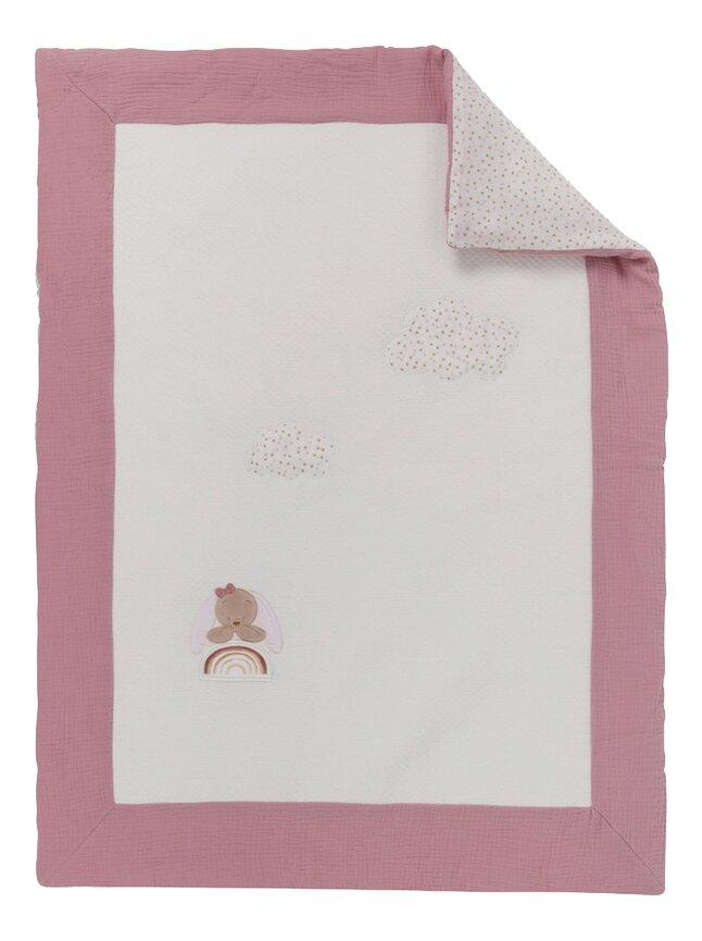 Nattou Couverture pour lit Sacha & Pauline blanc/rose