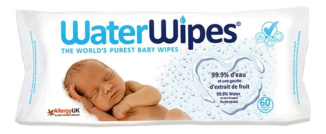 WaterWipes Lingettes humides - 60 pièces
